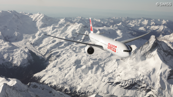 Swiss Air Lines Flugzeug